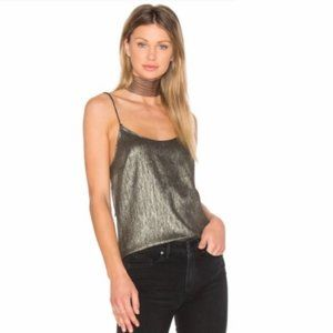 NWT PAIGE Cicely Metallic Camisole